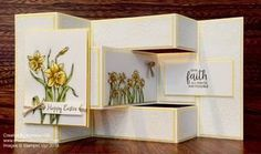 Hoping with the Kre8tors today...showcasing Stampin' Up! Occasions catalog - why not grab a cuppa and hop along? I made this fancy fold Easter card using You're Inspiring.