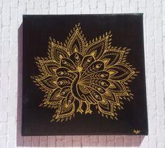 """Acrylmalerei - Bild,Krafttier """"Pfau"""" - ein Designerstück von PetiteMaman-Atelier bei DaWanda"""