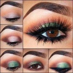 This makeup for brown eyes eye shadow combination is best worn on weddings. . anavitaskincare.com