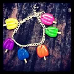 Polymer clay Popsicle bracelet.