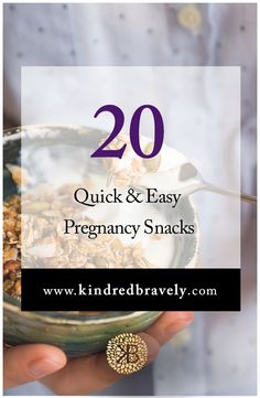 Need some #healthy snack ideas? Check out Kindred Bravely's blog on 20 Quick and Easy Pregnancy Snacks.   #pregnancy #maternity #breastfeeding #nursing #newborn  maternity, pregnancy, breastfeeding, nursing, pumping, newborn, birth, labor and delivery, maternity lingerie, nursing bra, women's fashion, maternity fashion, maternity clothes, postpartum, hospital bag must-have, blog, motherhood, parenting, mom blog