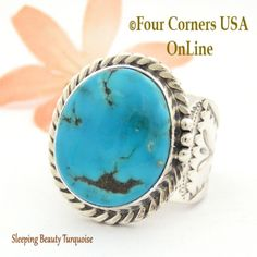 Four Corners USA Online - Size 11 3/4 Sleeping Beauty Turquoise Sterling Ring Navajo Artisan Freddy Charley NAR-1644, $268.00 (http://stores.fourcornersusaonline.com/size-11-3-4-sleeping-beauty-turquoise-sterling-ring-navajo-artisan-freddy-charley-nar-1644/)