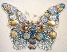 butterfly framed art from jewelry
