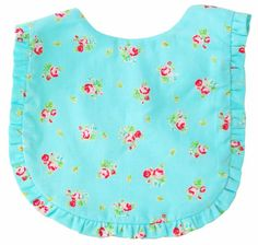 Gorgeous turquoise ruffle bib by Alimrose Designs - keep baby clean while also looking super sweet & stylish! Makes a beautiful baby gift! 100% Cotton / Machine Washable #littlebooteekau #babyshowergifts #bibs