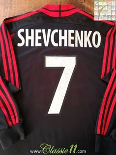 9689e225cf7 2000 01 AC Milan 3rd Football Shirt. Shevchenko  7 (XL)