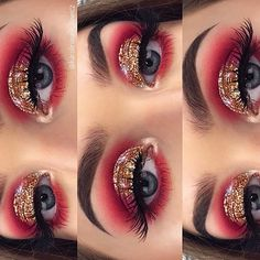 ✨ EYES: Rose Gold Palette & no name gold glitter Dark Eye Makeup, Dramatic Eye Makeup, Eye Makeup Art, Colorful Eye Makeup, Eye Makeup Tips, Eyeshadow Makeup, Makeup For Brown Eyes, Eyeshadows, Eyeshadow Palette