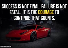 The courage to continue is what counts! #quotes #motivation