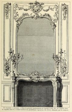 Design for a mantel piece inside a bedroom