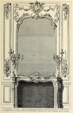 Design for a mantel piece inside a bedroom