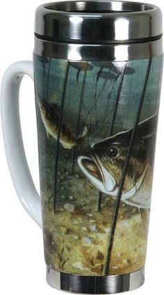 Bass Coffee Mug,Fishing Coffee Mug,Fishin Mug