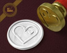 You are in my heart - Wax Seal Stamp by Get Marked  #wax, #waxseal, #waxsealstamp, #invitation, #DIY, #wedding, #GetMarked