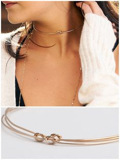 Dainty Gold Choker Necklace Collar Necklace Gold Neck Ring