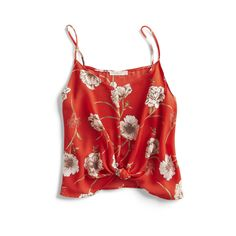 Stitch Fix Spring Stylist Picks: Red floral tie detail cami