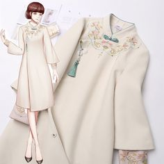 Japan Fashion, Girl Fashion, Fashion Dresses, Womens Fashion, Dress Brukat, Diy Dress, Orientation Outfit, Mode Kpop, Dress Sketches