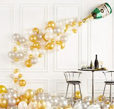 Champagne Bottle Balloon Kit Party City