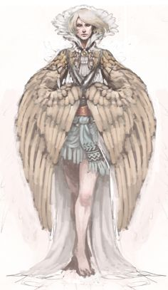Old harpy drawing for the monster girl challenge that I have never finished ;A;.