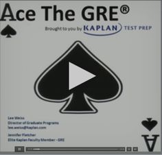 Ace the GRE - a Free GRE Class that shows tips, tricks, strategies, and methods that will help you tackle the test.