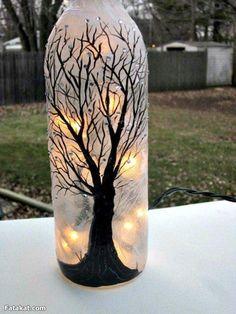 25+ DIY Wonderful Glass Bottle Art