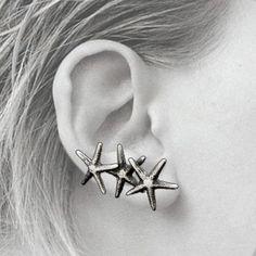 Starfish Climber Earrings