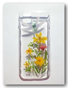 Handmade iphone 6 case, Resin with Real Flower, Pressed flower (20)