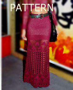 PATTERN sexy crochet skirt for summer beach women by CopperLife