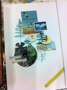 Postkort fra collage workshop på Godsbanens Aabne Vaerksteder. https://www.flickr.com/photos/130038384@N07/16587294150/