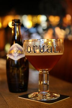 Orval - located within the walls of the Abbaye Notre-Dame d'Orval in the Gaume region of Belgium Orval Beer, Beers Of The World, Belgian Beer, Pub Food, Raspberry Ketones, Beer Recipes, How To Make Beer, Wine And Beer, Best Beer