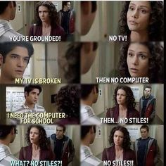 No Stiles?😂😀❤ discovered by Edina on We Heart It - teen wolf, stiles, and tyler posey image - Stiles Teen Wolf, Teen Wolf Scott, Scott Und Stiles, Teen Wolf Mtv, Teen Wolf Boys, Teen Wolf Dylan, Teen Wolf Malia, Teen Wolf Tumblr, Teen Wolf Memes