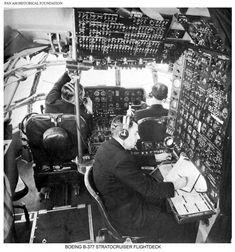 Pan Am Boeing B-377 Stratocruiser Flight Deck