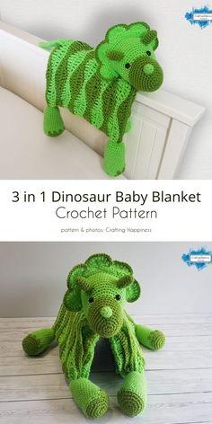 3 in 1 Dino Blanket Crochet Cocoon, Crochet Yarn, Crochet Toys, Chrochet, Big Knit Blanket, Knitted Blankets, Baby Blankets, Crochet Baby Pants, Baby Blanket Crochet