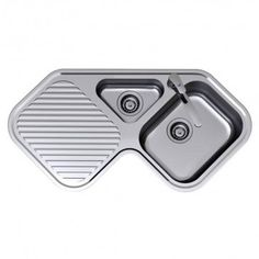 Clark Corner Stainless Steel Sink Right Hand Bowl 1 Tap Hole