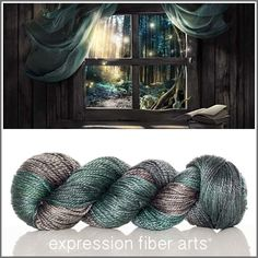 Reading Nook luster merino tencel worsted weight yarn by expression fiber arts - oh la la!!