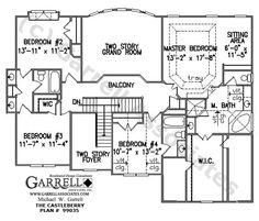 Castleberry House Plan # 99035, 2nd Floor Plan, Master Up House Plans, Traditional Style House Plans