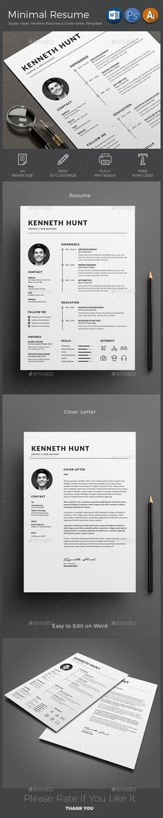 #Resume - Resumes Stationery Download here: https://graphicriver.net/item/resume/19265898?ref=alena994
