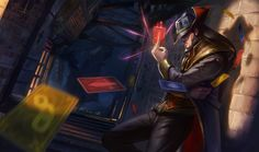 Twisted Fate   League of Legends Twisted Fate is an infamous card sharp and swindler who has gambled and charmed his way across much of the known world, earning the enmity and admiration of the rich and foolish alike. He rarely takes things seriously, greeting each day with a mocking smile and an insouciant swagger. In every possible way, Twisted Fate always has an ace up his sleeve.