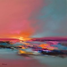 Buy Lover's Bay - 80 x 80 cm abstract landscape oil painting in soft pink and turquoise, Oil painting by Beata Belanszky Demko on Artfinder. Discover thousands of other original paintings, prints, sculptures and photography from independent artists.