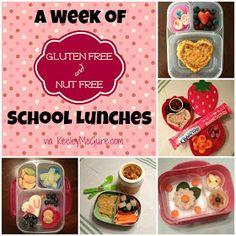Gluten Free & Allergy Friendly: Lunch Made Easy: A Week of {Gluten & Nut Free} School Lunches #AllergyFriendly