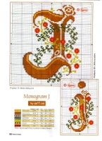 Gallery.ru / Фото #13 - Monogrammy - Vlada65 Letters, Cross Stitch, Cross Stitch Alphabet, Dots, Crosses, Seed Stitch, Punto De Cruz, Letter, Cross Stitches