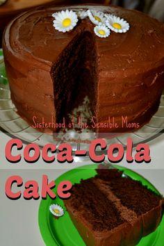 Chocolate Coca-Cola Cake. The yummiest chocolate cake recipe ever! Sisterhood of the Sensible Moms