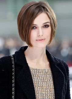 I like this  - but with a few layers - I wish I could see the back of this.  And a few sprigs of bangs since I have a high forehead!  Looks like an easy to maintain hairstyle.