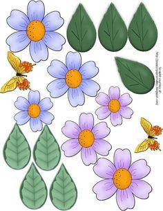 Lavender 3-D Flowers