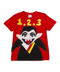 This Red Count von Count Tee - Infant by Sesame Street is perfect! #zulilyfinds $11.99 X