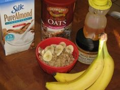 METABOLISM BOOSTING BREAKFAST:  Almond Butter and Banana Oatmeal- 375 calories