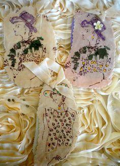 Vintage Handmade Embellished Gift Tags.