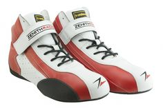 Zenith Racing DB-1 FIA Leather Racing Boots (RED)  #FIA #Zenithracing
