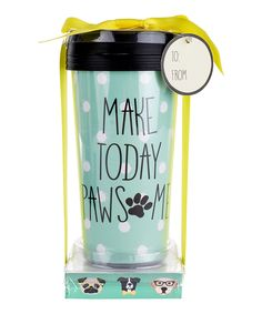 This 'Make Today Pawesome' Travel Mug & Memo Pad Set by Tri-Coastal Design is perfect! #zulilyfinds