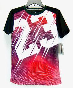 d4ee192d7 Boys Jordan Jumpman 23 Crewneck DriFit Tee Shirt Black Red White Youth Size  L XL #