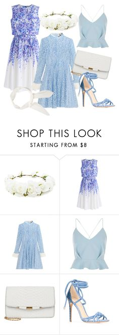 """""""blue lavender"""" by dodo85 on Polyvore featuring Forever 21, Chicwish, Topshop Unique, River Island, Alexandre Birman and Chloé"""