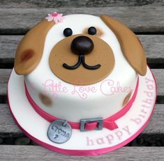27 Exclusive Picture Of Birthday Cake Dog Little Love Cakes Cute Face Pasteles En 2018