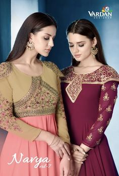 Vardan Designer Navya Fabric Detail Top: Lichi Gorgert with inner *Stitched* size -XL with Extra Margin *Dupatta* : Najmin four side lace Bottom- Dull Santoon MTR *Unstiched* Designs: 04 Rate- GST EXTRA Regards Vardan Designer Fancy Kurti, Fancy Sarees, Western Gown, Gown Suit, Fancy Gowns, Lehenga Style, Printed Gowns, Designer Gowns, Boutique